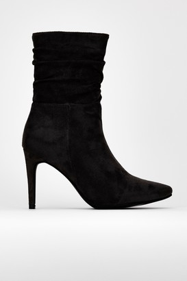 Wallis Black Ruched Ankle Boot