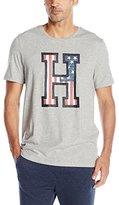 "Tommy Hilfiger Men's Short Sleeve Crew Neck ""H"" Flag Graphic T-Shirt"