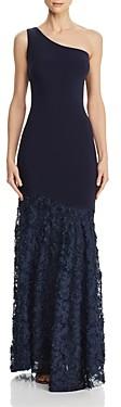 Aqua Floral-Applique Gown - 100% Exclusive