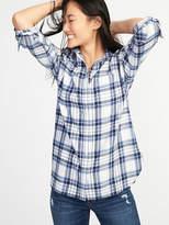 Old Navy Boyfriend Plaid Flannel Shirt for Women