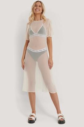 NA-KD Short Sleeve Chiffon Dress