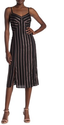 Rachel Roy Jody Metallic Stripe Dress