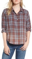 Sundry Women's Plaid Pocket Shirt