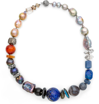 Stephen Dweck Multi-Stone & Pearl Short Necklace