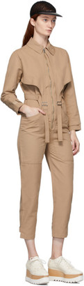 Stella McCartney Beige Tuta Military Jumpsuit