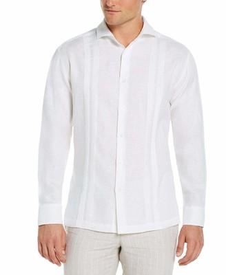 Cubavera Collection Modern Linen Multi Pintuck Guayabera Shirt
