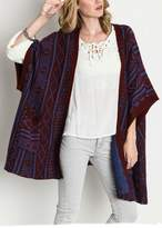 Umgee USA Geometric Oversized Cardigan