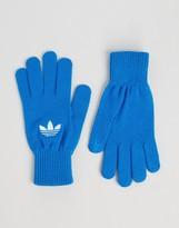 Adidas Originals Trefoil Gloves In Blue Ay9340