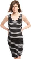 Motherhood Bumpstart Striped Maternity Dress