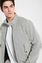 7 For All Mankind Herrington Jacket In Navy And White