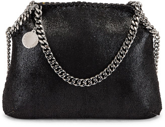 Stella McCartney Mini Falabella Shaggy Deer Tote in Black | FWRD