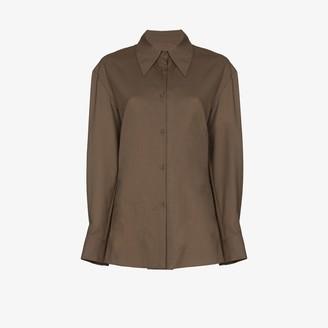 Low Classic Cowl Neck Button Shirt