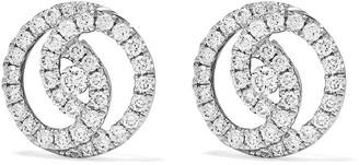 Kiki McDonough 18kt white gold Diamond Studs interlinked earrings