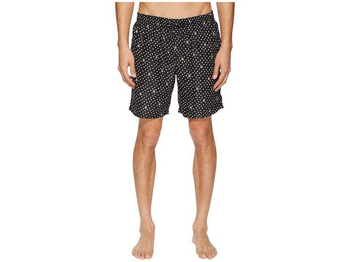 Dolce & Gabbana Mid Length Polka Dot Swimsuit Boxer w/ Bag