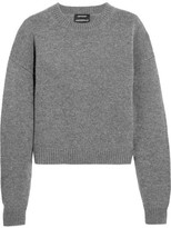 Anthony Vaccarello Wool And Cashmere-blend Sweater - Dark gray
