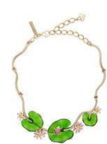 Oscar de la Renta floral necklace