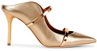 Malone Souliers Maureen 85 Gold Leather Mules