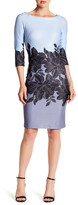Taylor Scuba Placement Print Sheath Dress