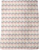 uneekee Chevron Blush Blanket: