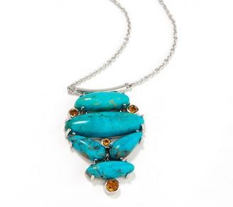 Generation Gems Multi-Gemstone Cabochon Sterling Silver Necklace