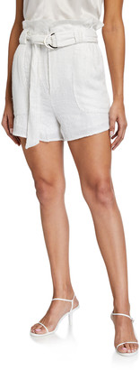 IRO Inaro Belted Paperbag Shorts w/ Sequins
