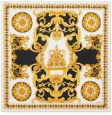 Versace Printed Silk Scarf - Black