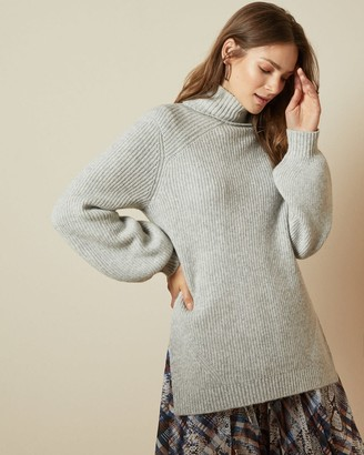 Ted Baker Chunky Wool Blend Roll Neck Jumper
