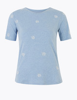 Per Una UsMarks and Spencer Cotton Embroidered T-Shirt