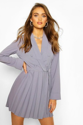 boohoo Occasion Double Breasted Blazer Dress