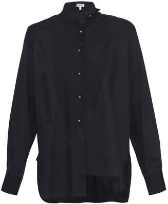 Loewe Asymmetrical striped shirt