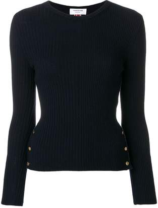 Thom Browne Striped Rib Stitch Merino Pullover