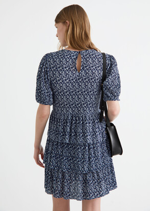 And other stories Tiered Printed Mini Dress