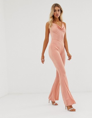 In The Style Slinky Halterneck Jumpsuit