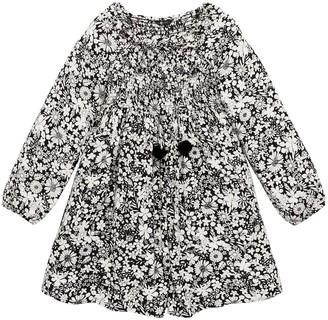 Very Girls Shirred Square Neck Smock Dress - Black