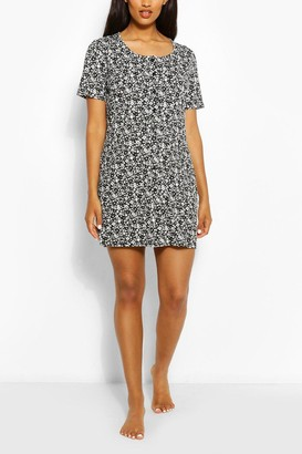 boohoo Maternity Button Front Ditsy Floral Nightie