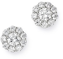Bloomingdale's Cluster Diamond Stud Earrings in 14K White Gold, 1.50 ct. t.w. - 100% Exclusive