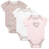 Little Me Baby Girls' 3 Pack Leopard-Print Bodysuits