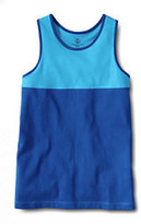 Classic Toddler Girls Pieced Racerback Tank-Reef Blue