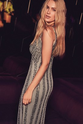 Girls On Film Little Mistress Grey Sequin Maxi