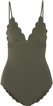 Marysia Swim Santa Clara Maillot Scalloped Textured Swimsuit