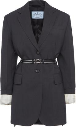 Prada Long Belted Blazer