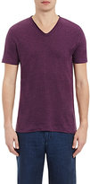 Vince MEN'S LINEN V-NECK T-SHIRT-PURPLE SIZE S