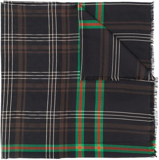 Gucci Long Plaid Scarf