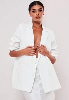 Missguided Sofia Richie X White Oversized Tailored Jacket