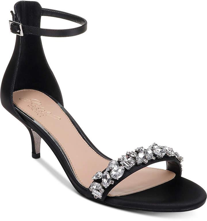 Badgley Mischka Dash Kitten-Heel Evening Sandals Women Shoes