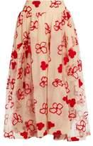 Simone Rocha Spooky flower-embroidered midi skirt