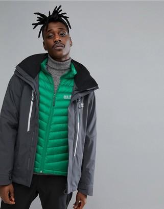 Exolight 3 in 1 Ski Jacket in Black