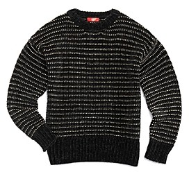 Aqua Girls' Metallic Stripe Sweater Big Kid - 100% Exclusive