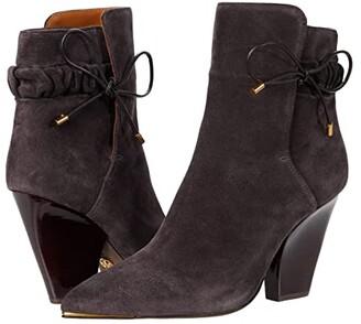 Tory Burch 90 mm Lila Scrunch Bootie (Grey) Women's Shoes