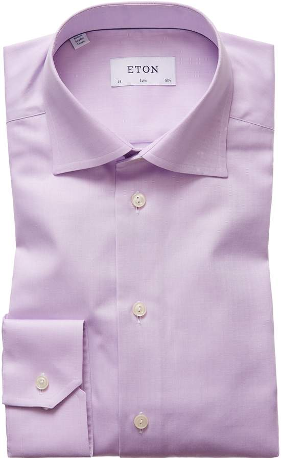 Eton Slim Fit Herringbone Dress Shirt